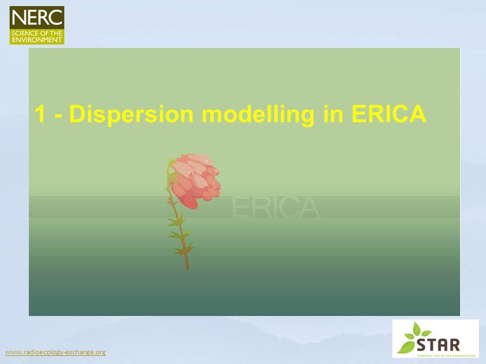 1 - Dispersion modelling in ERICA