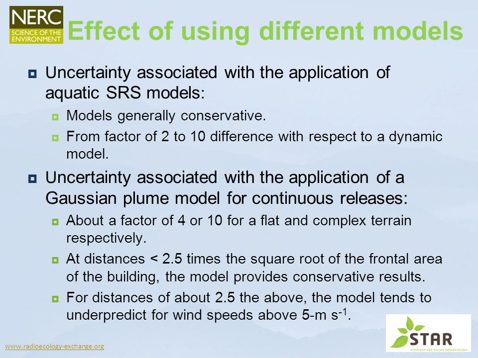 Effect of using different models