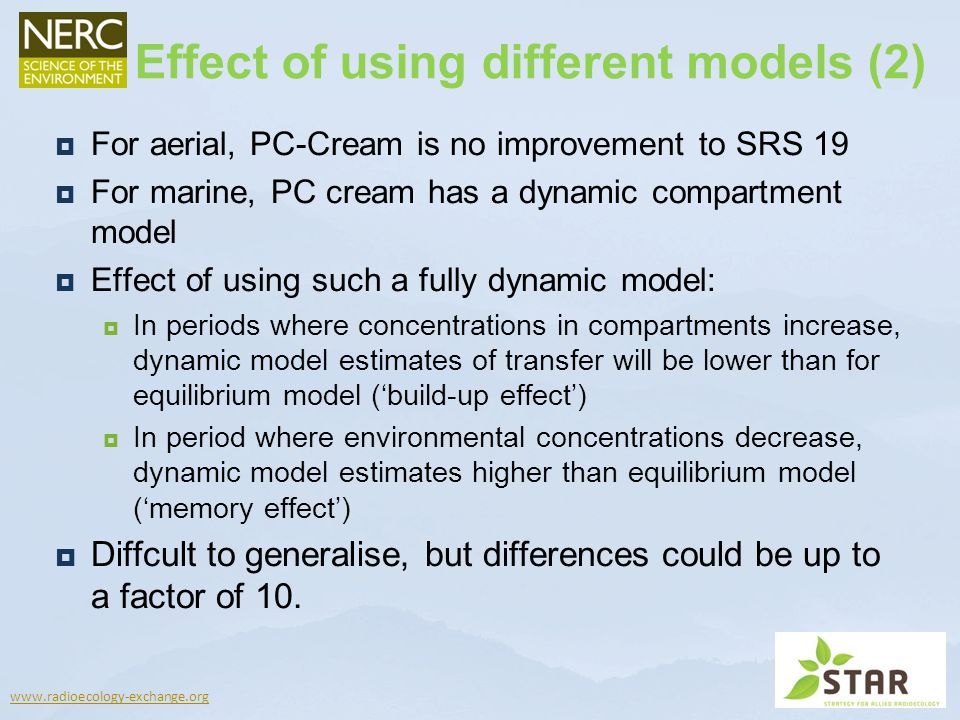 Effect of using different models (2)