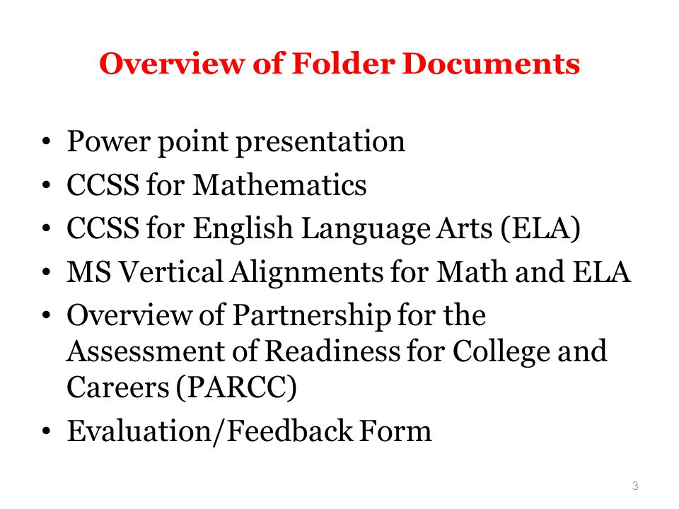 Overview of Folder Documents