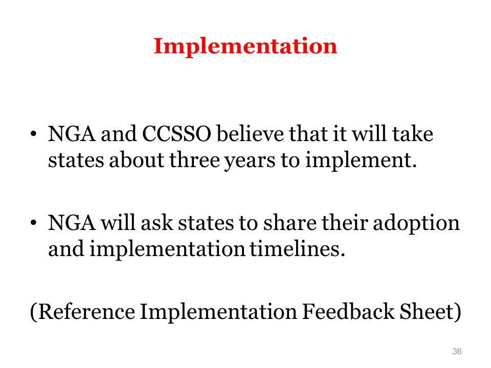 (Reference Implementation Feedback Sheet)