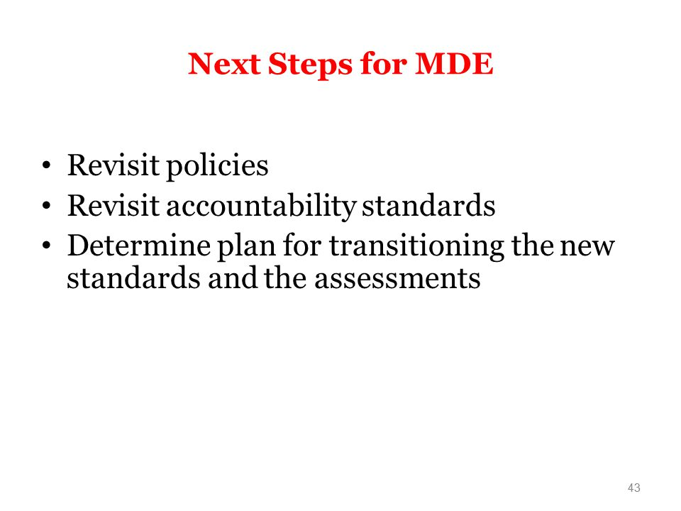 Revisit accountability standards
