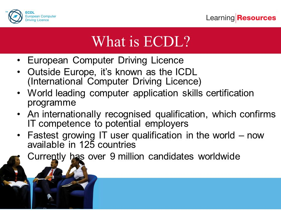 What is ECDL European Computer Driving Licence