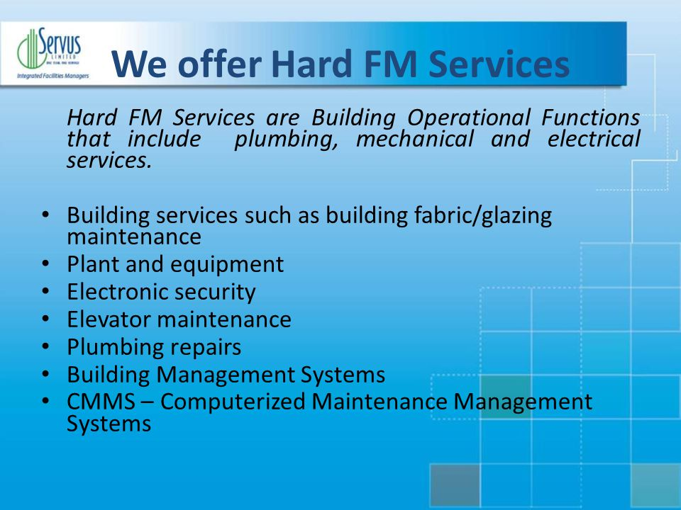 We offer Hard FM Services