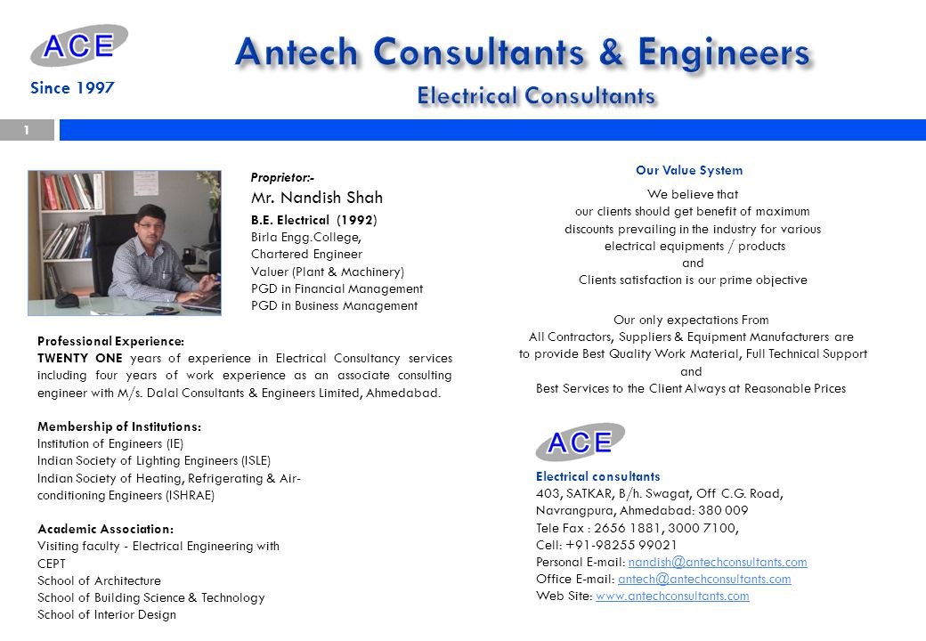 Antech Consultants & Engineers Electrical Consultants