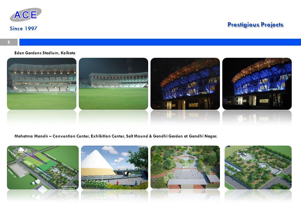 Prestigious Projects Since 1997 Eden Gardens Stadium, Kolkata