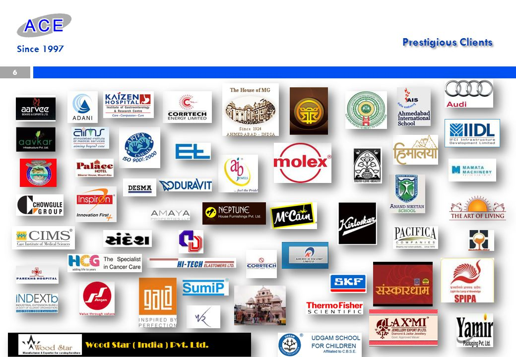 Since 1997 Prestigious Clients