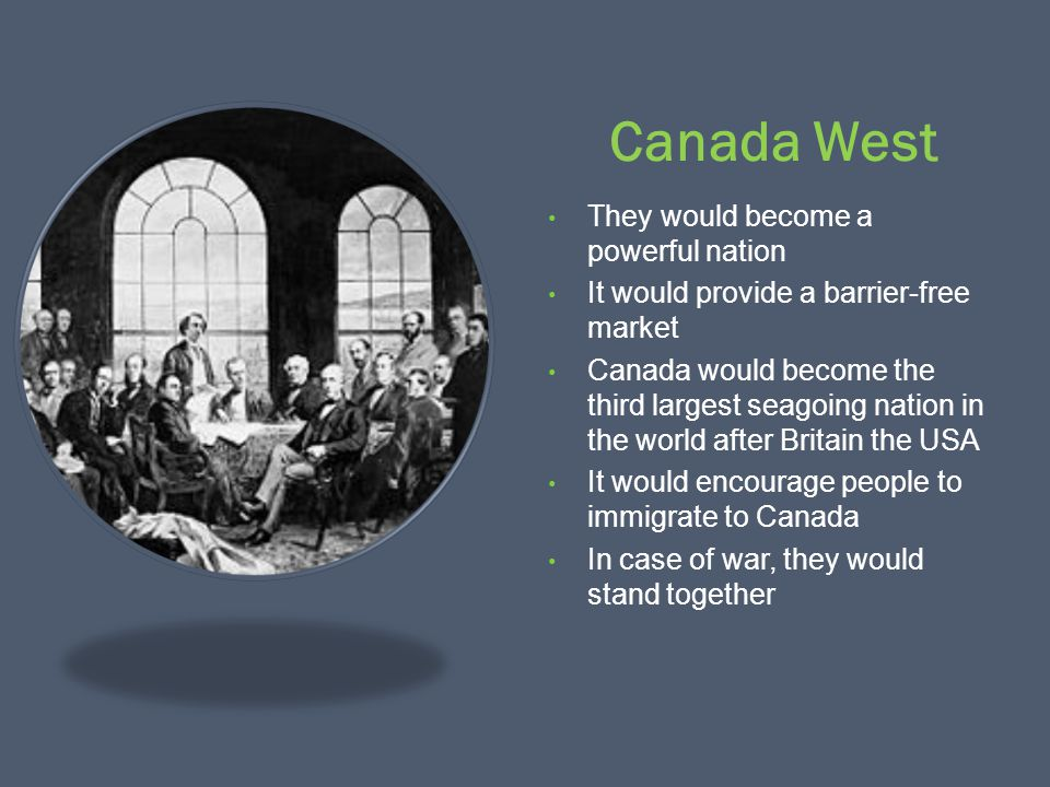 Canada West They would become a powerful nation