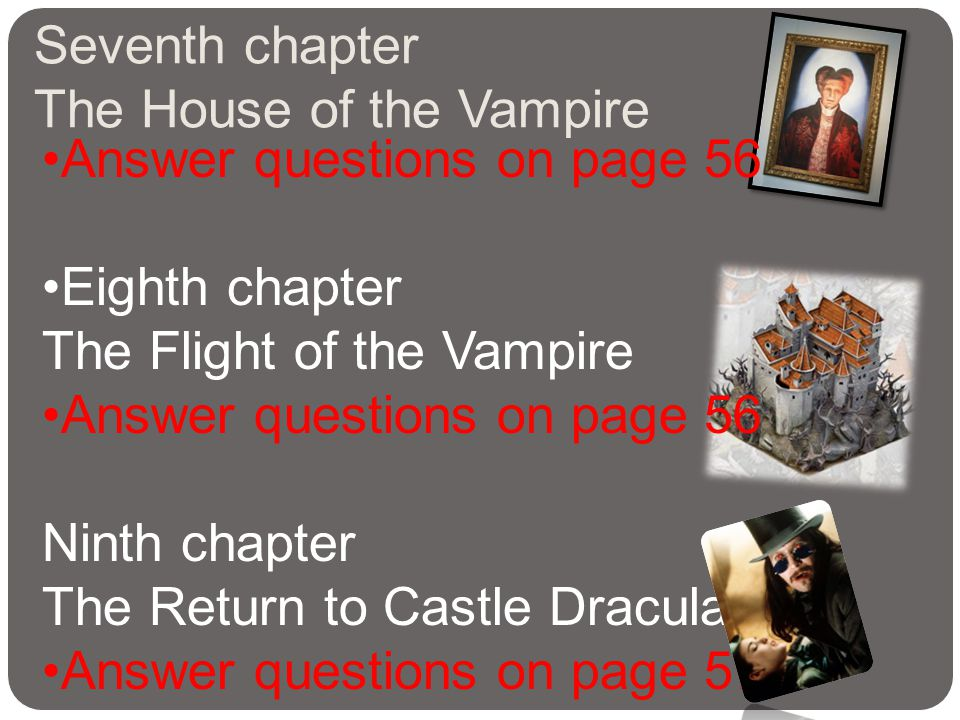 Seventh chapter The House of the Vampire