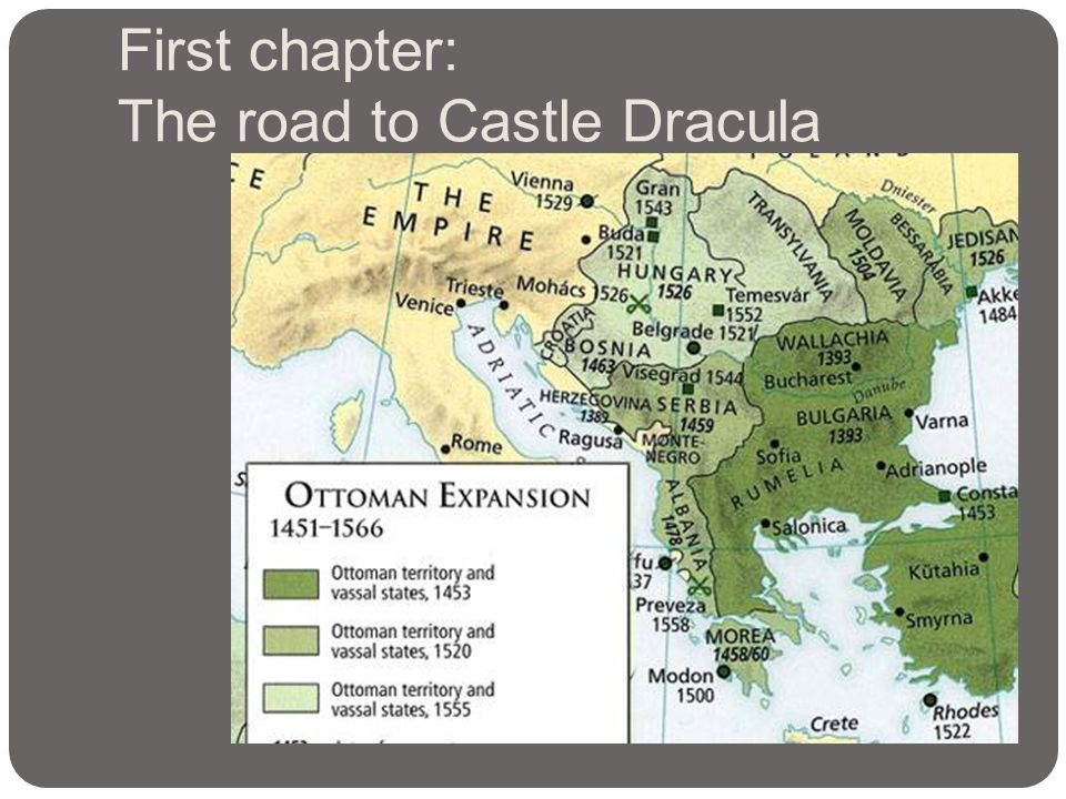 First chapter: The road to Castle Dracula