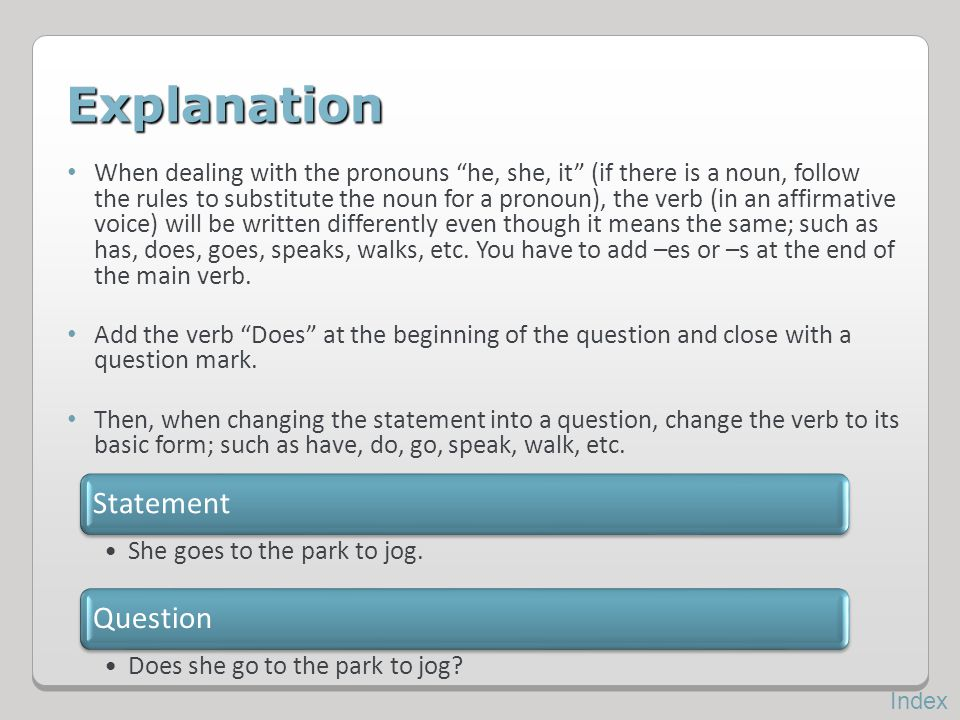 Explanation Statement Question