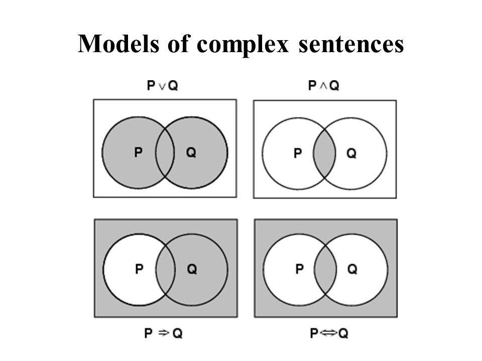 Models of complex sentences