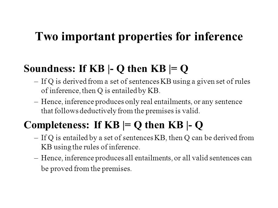 Two important properties for inference