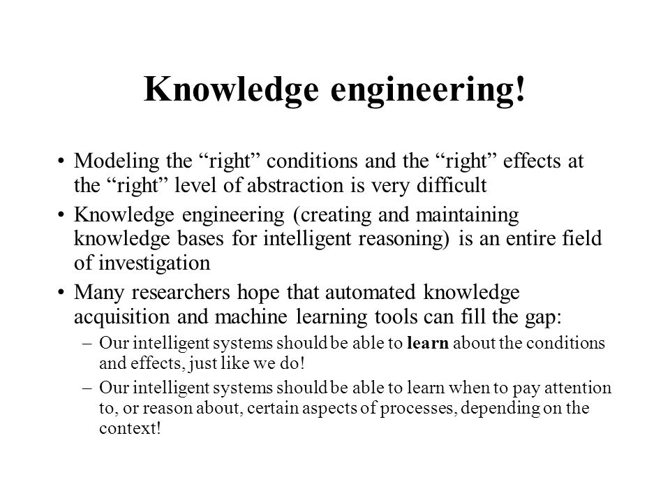 Knowledge engineering!
