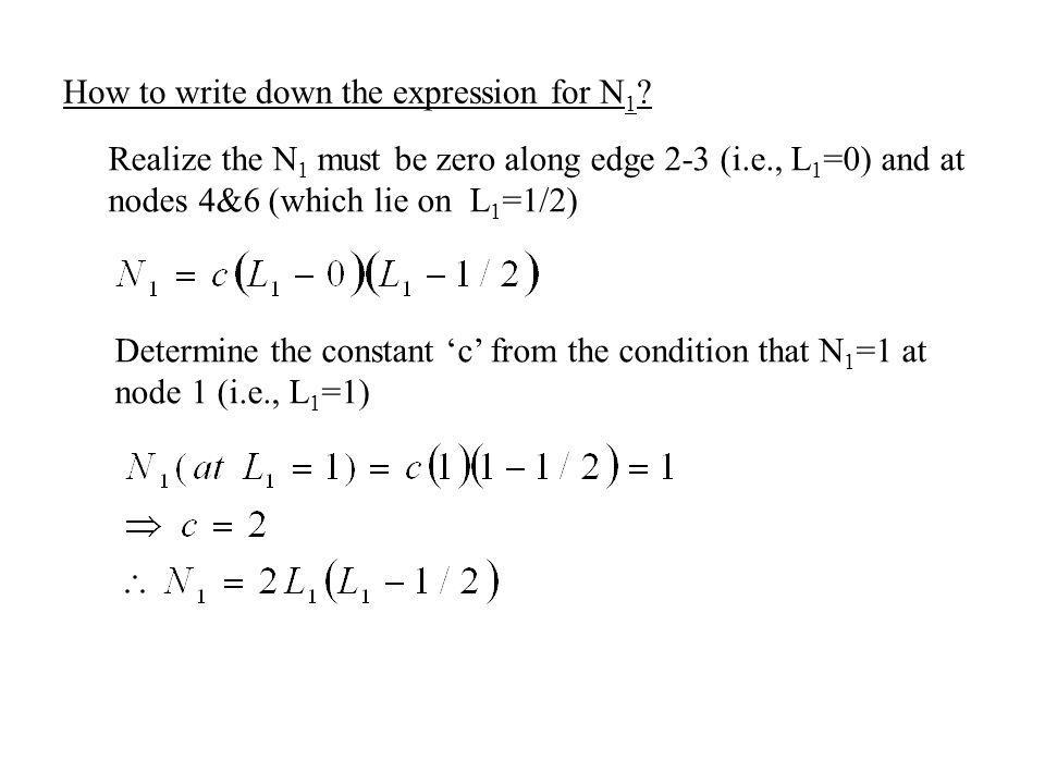 How to write down the expression for N1