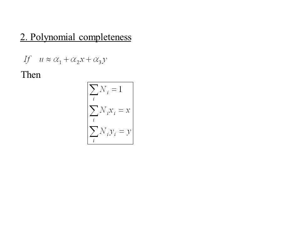 2. Polynomial completeness