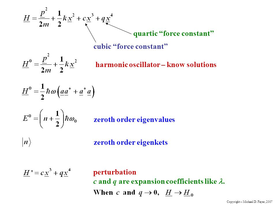 cubic force constant quartic force constant
