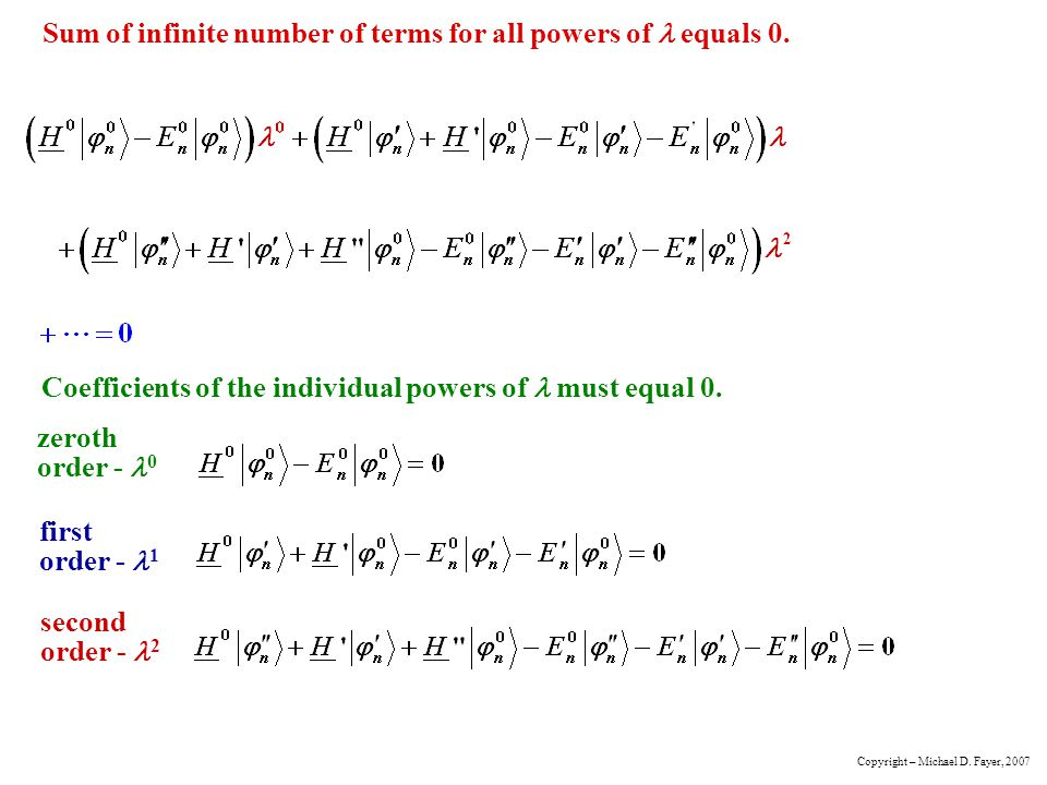 Sum of infinite number of terms for all powers of l equals 0.