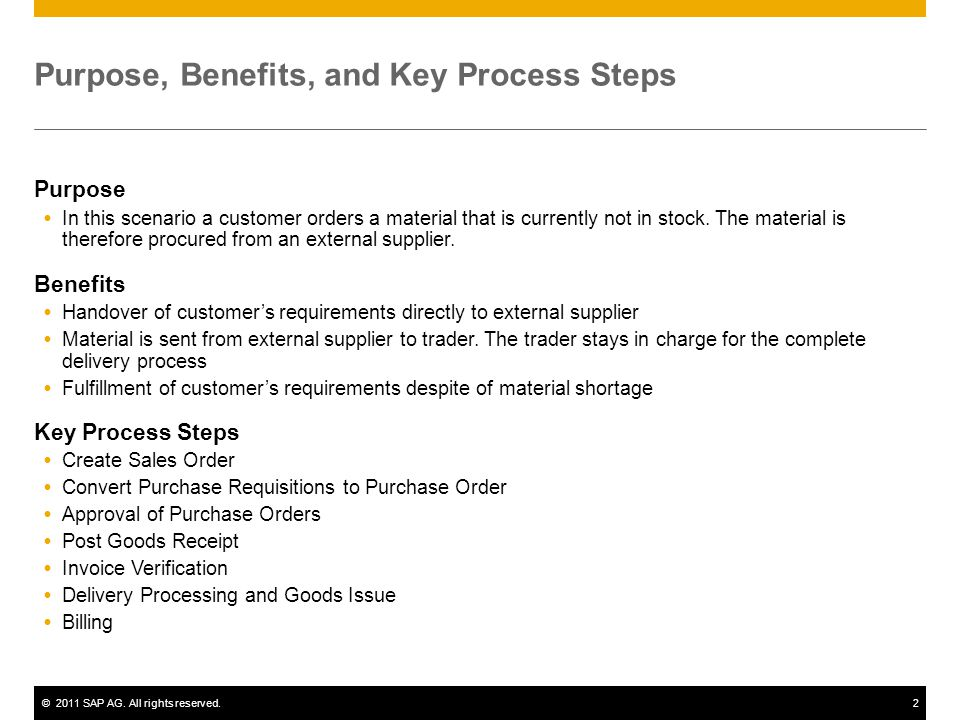 Purpose, Benefits, and Key Process Steps