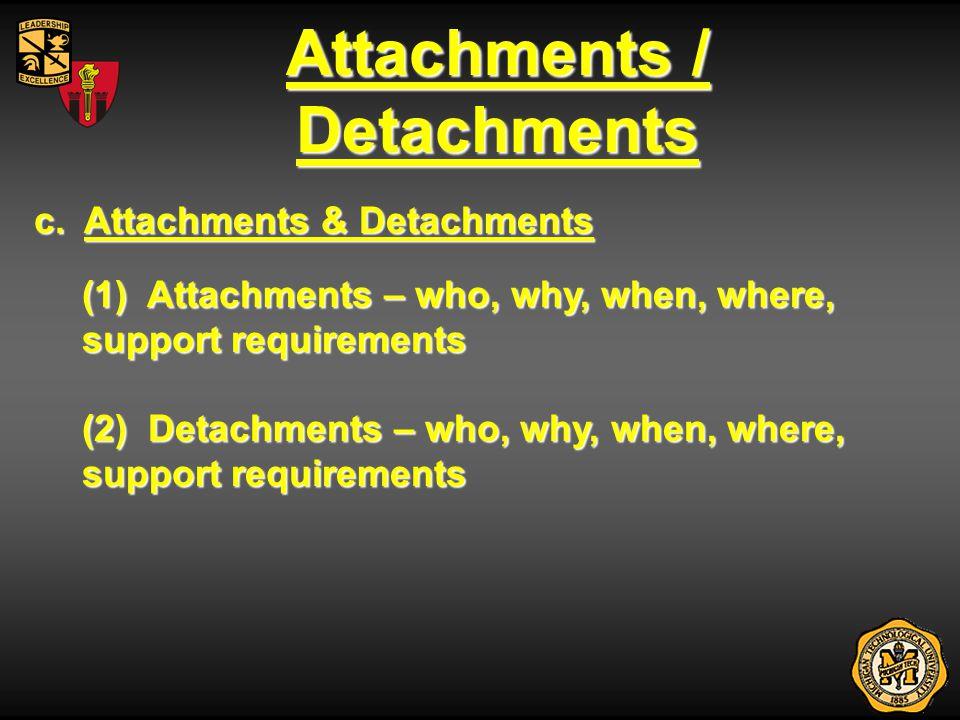 Attachments / Detachments