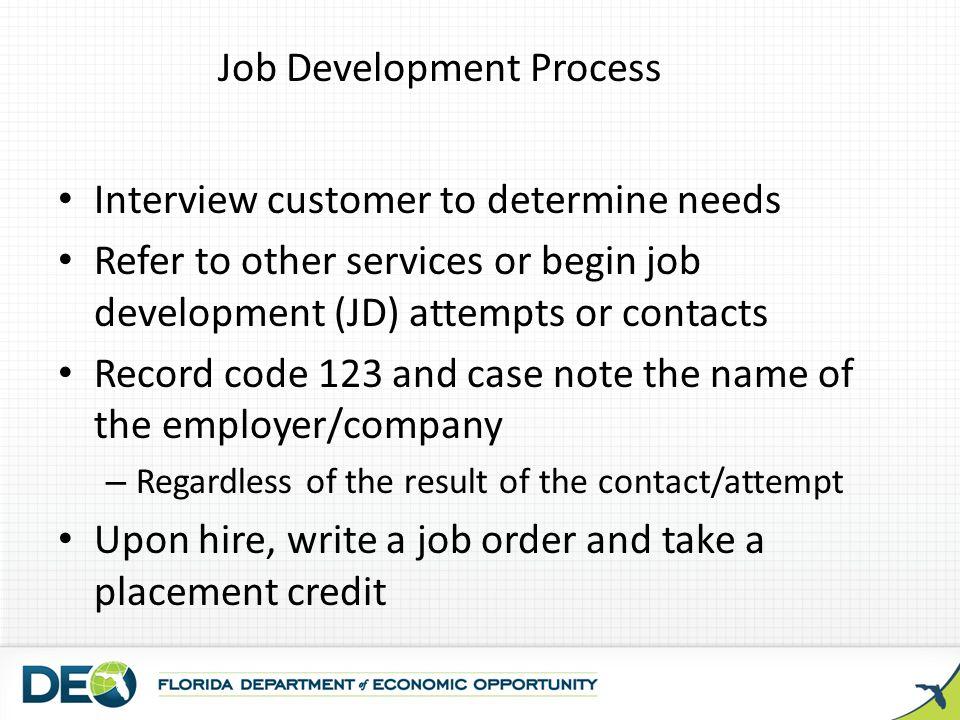 Job Development Process