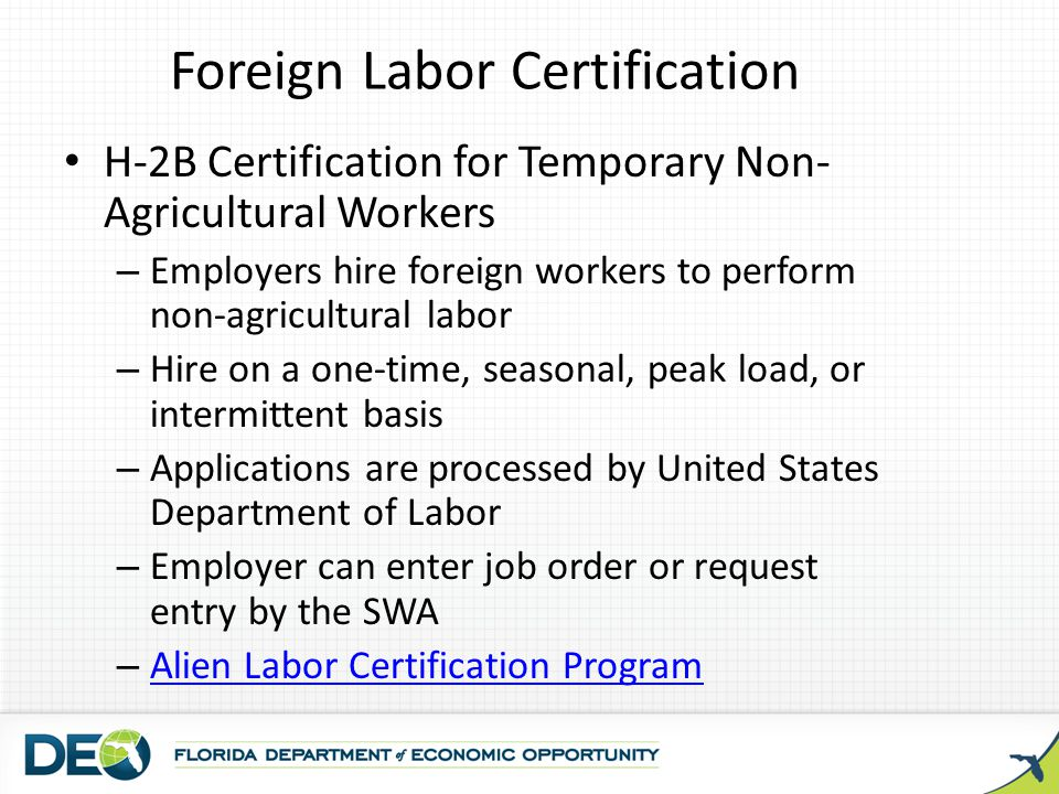 Foreign Labor Certification