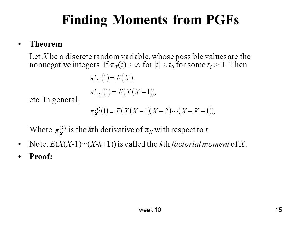 Finding Moments from PGFs