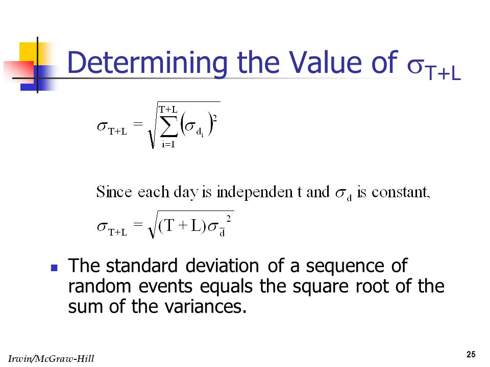 Determining the Value of sT+L