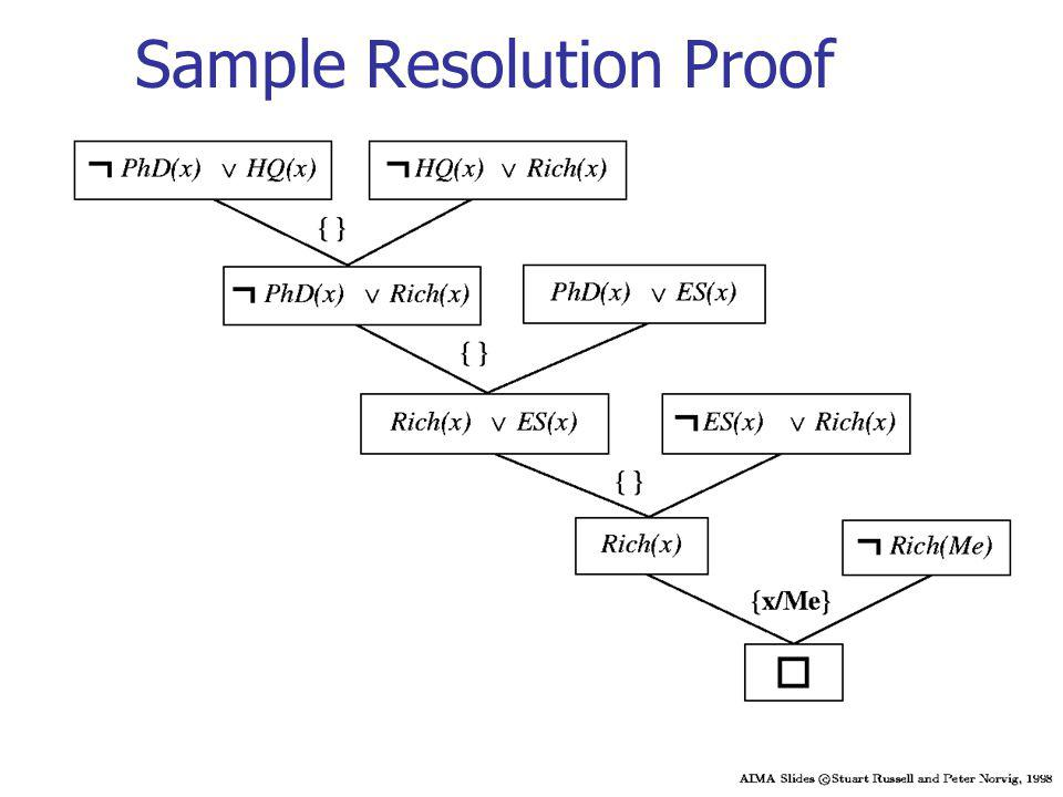 Sample Resolution Proof