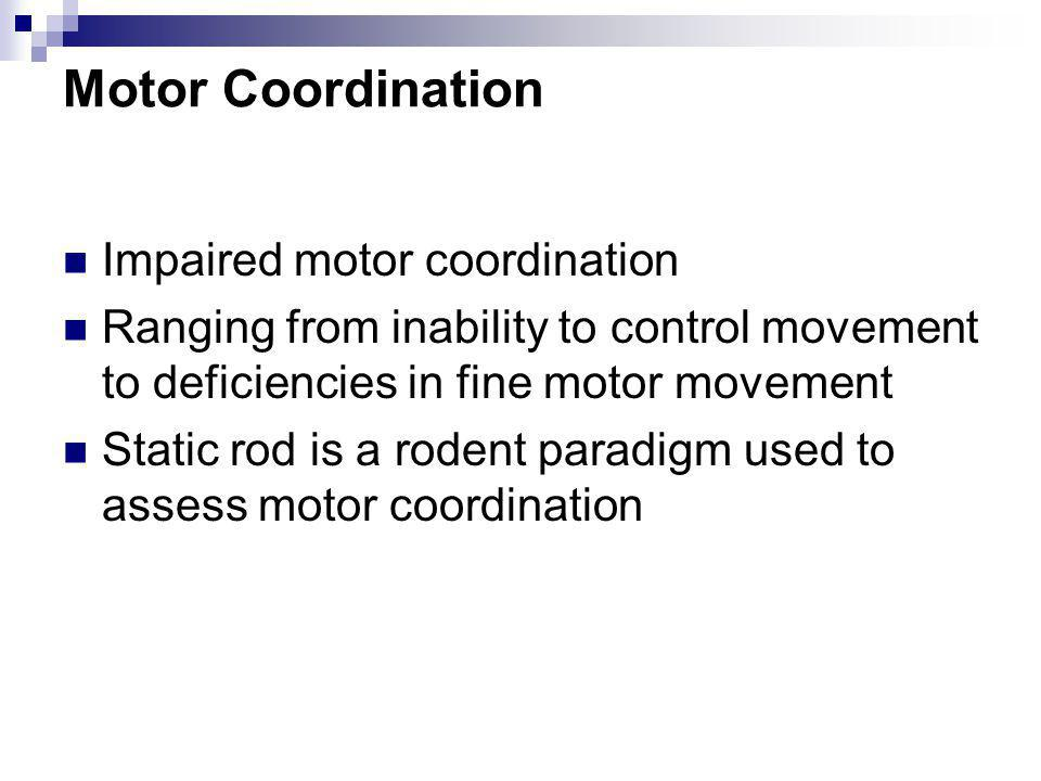 Motor Coordination Impaired motor coordination