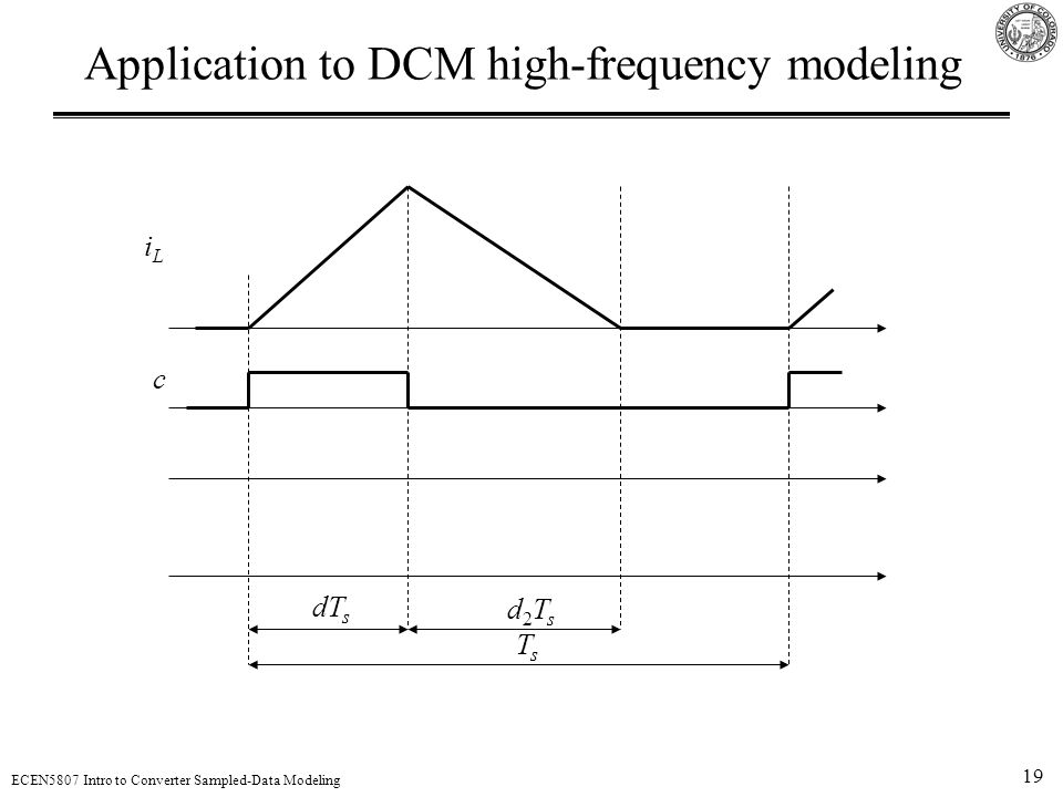 Application to DCM high-frequency modeling