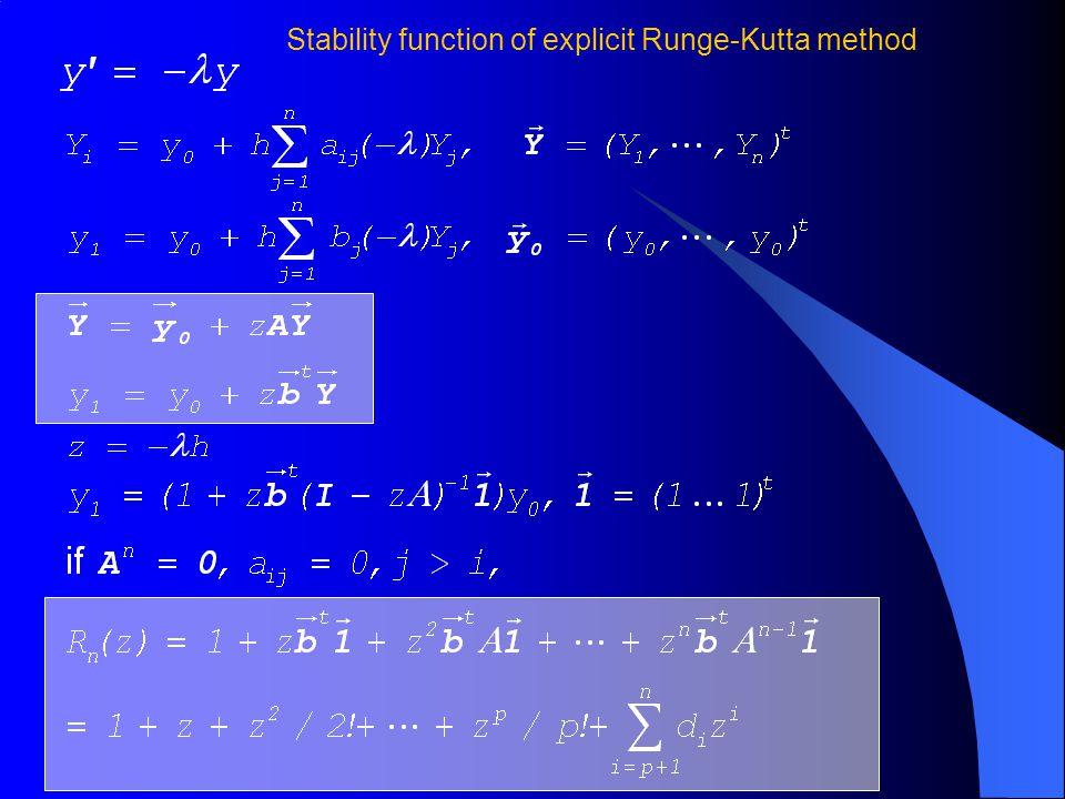 Stability function of explicit Runge-Kutta method