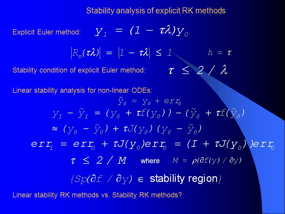 Stability analysis of explicit RK methods