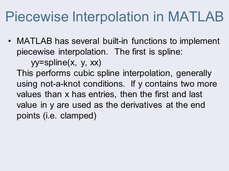 Piecewise Interpolation in MATLAB