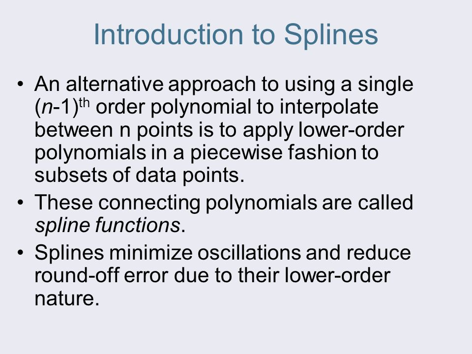 Introduction to Splines