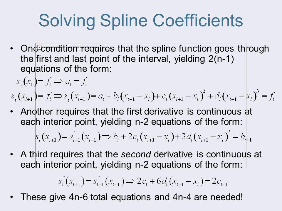 Solving Spline Coefficients