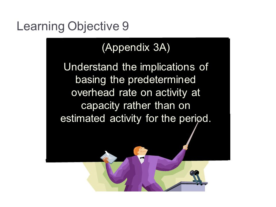 Learning Objective 9 (Appendix 3A)