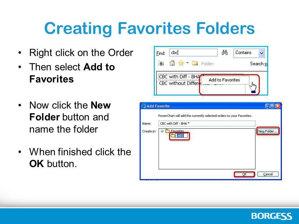 Creating Favorites Folders