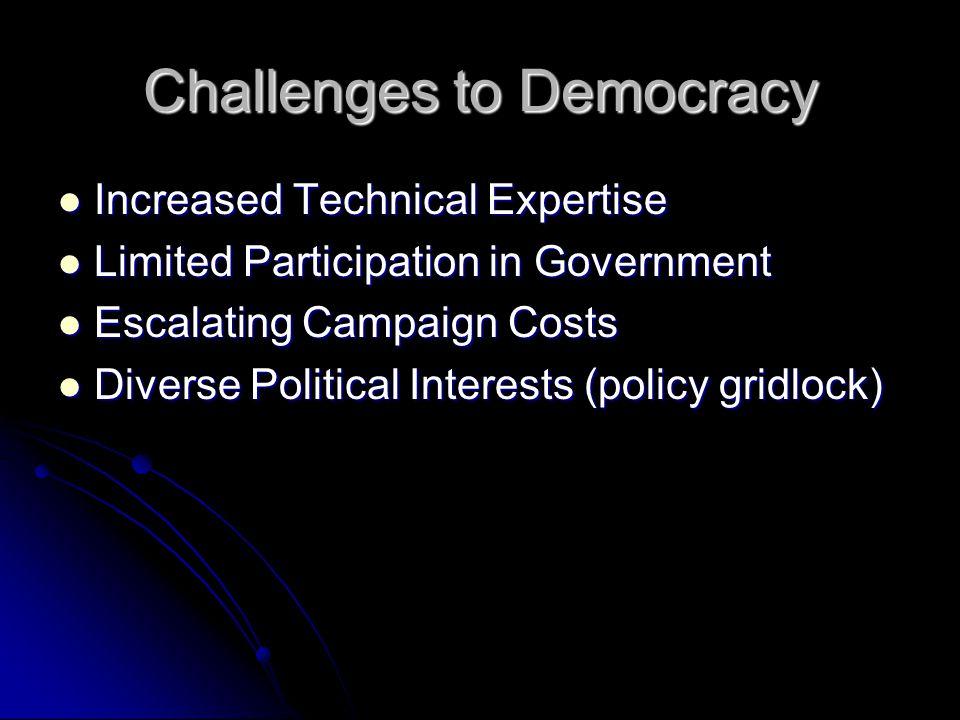 Challenges to Democracy