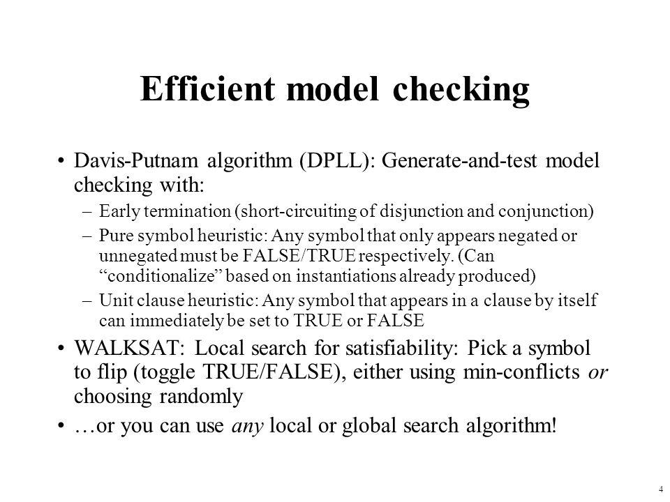 Efficient model checking
