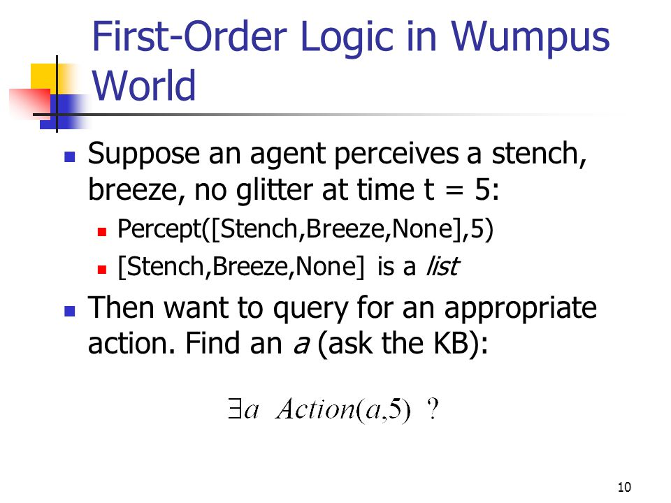 First-Order Logic in Wumpus World