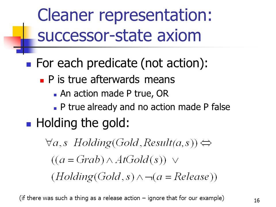 Cleaner representation: successor-state axiom