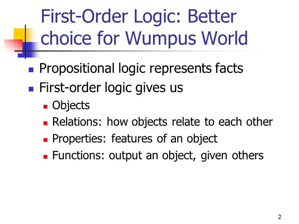 First-Order Logic: Better choice for Wumpus World