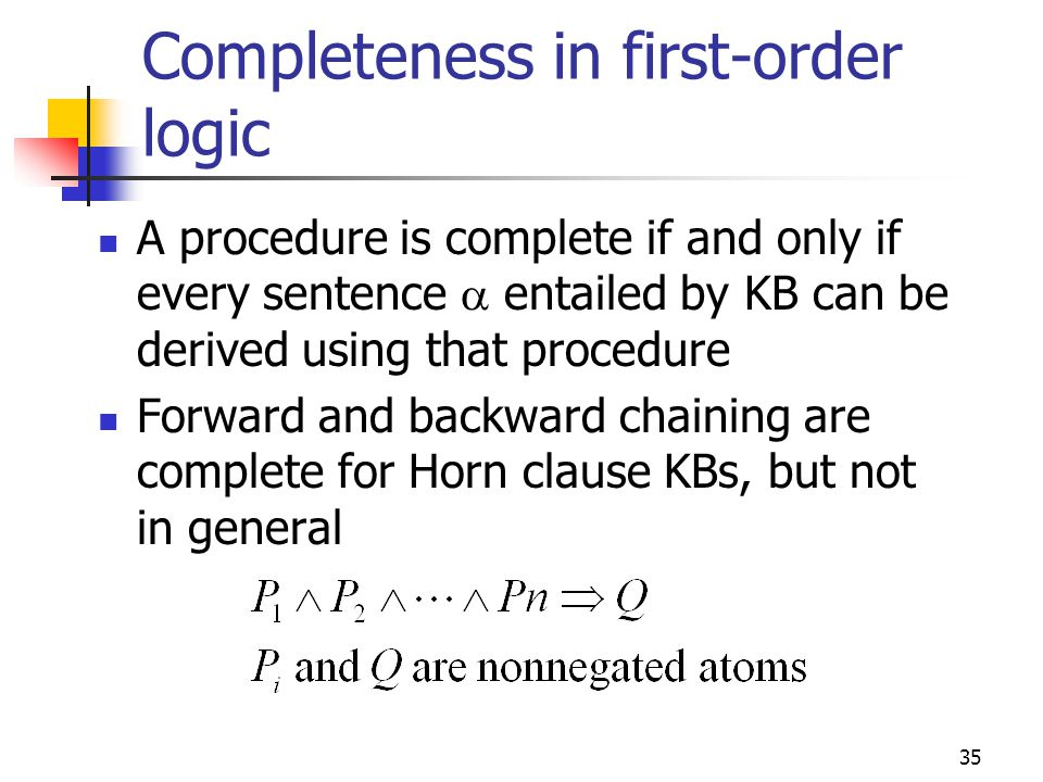 Completeness in first-order logic
