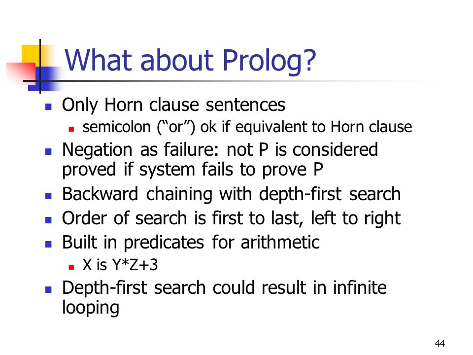 What about Prolog Only Horn clause sentences
