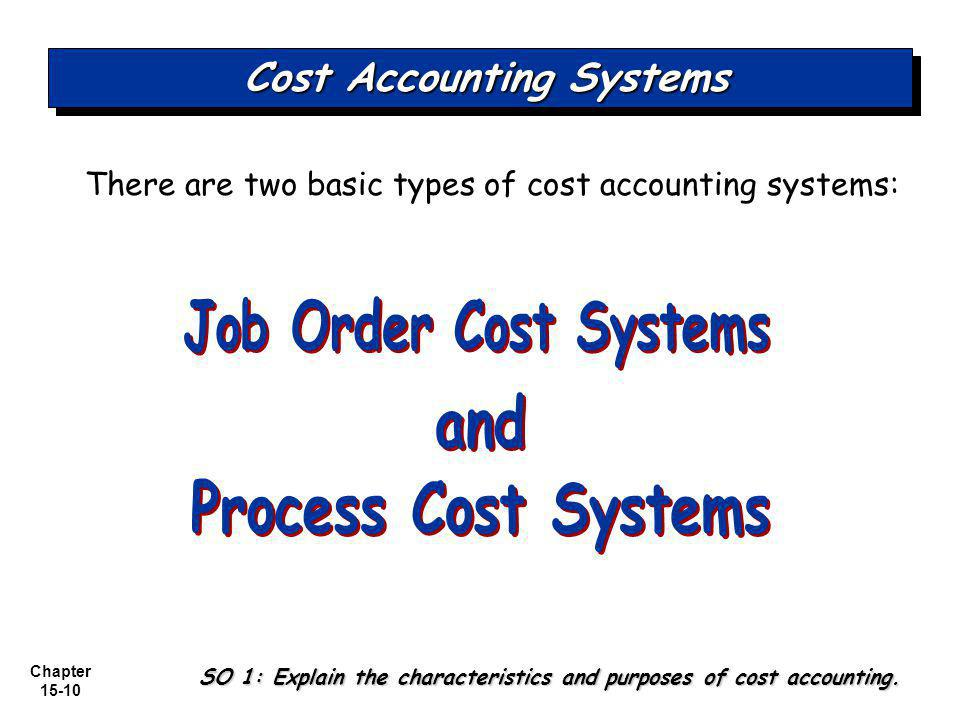 two types of cost accounting systems Although the typical financial accounting system is not intended to cost reporting has two this report provides three types of analysis: cost as a.