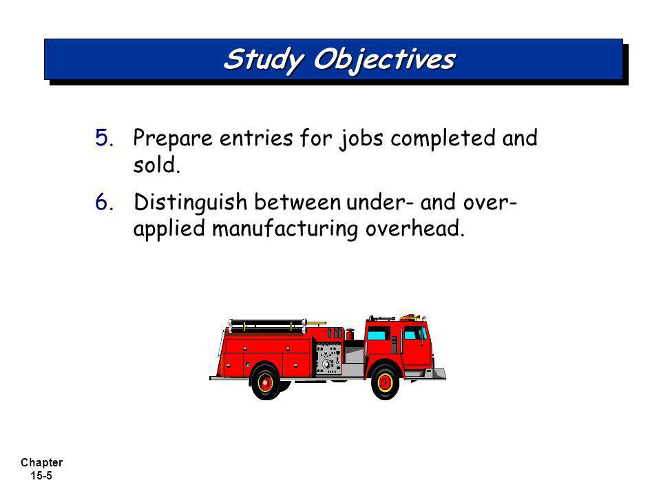 Study Objectives Prepare entries for jobs completed and sold.