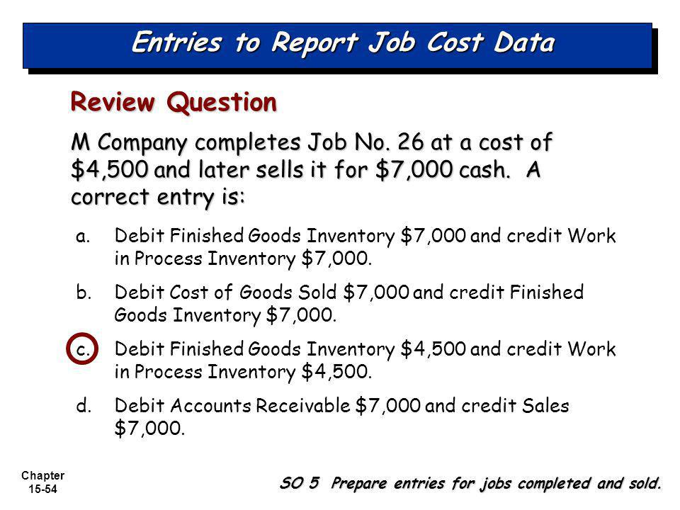 Entries to Report Job Cost Data