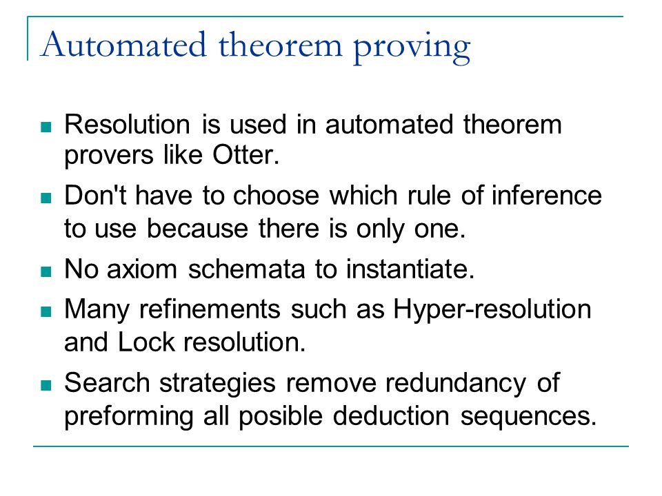 Automated theorem proving