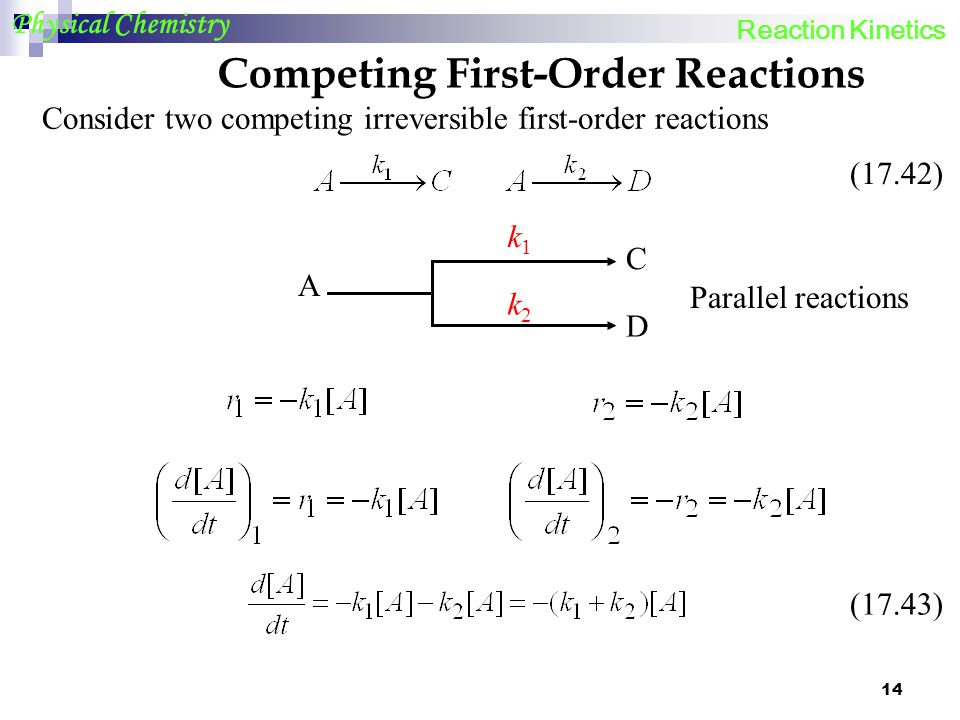 Competing First-Order Reactions